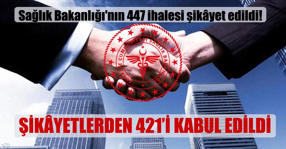 Sağlık Bakanlığı'nın 447 ihalesi şikâyet edildi!