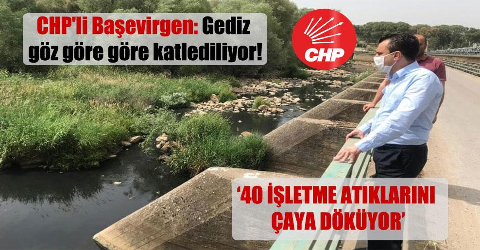 CHP'li Başevirgen: Gediz göz göre göre katlediliyor!