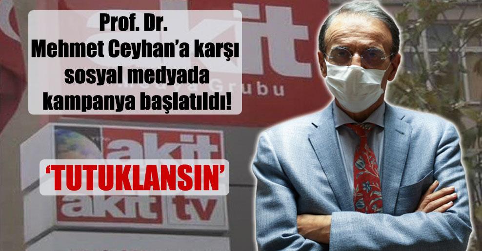 Prof. Dr. Mehmet Ceyhan'a karşı sosyal medyada kampanya başlatıldı!