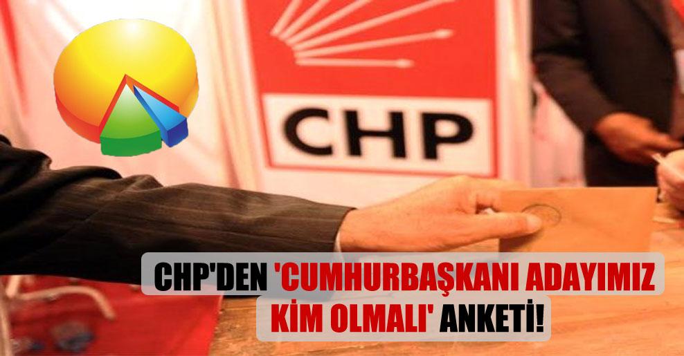 CHP'den 'Cumhurbaşkanı adayımız kim olmalı' anketi!