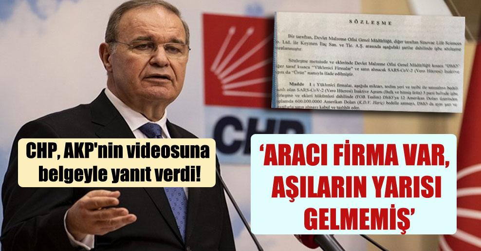 CHP, AKP'nin videosuna belgeyle yanıt verdi!