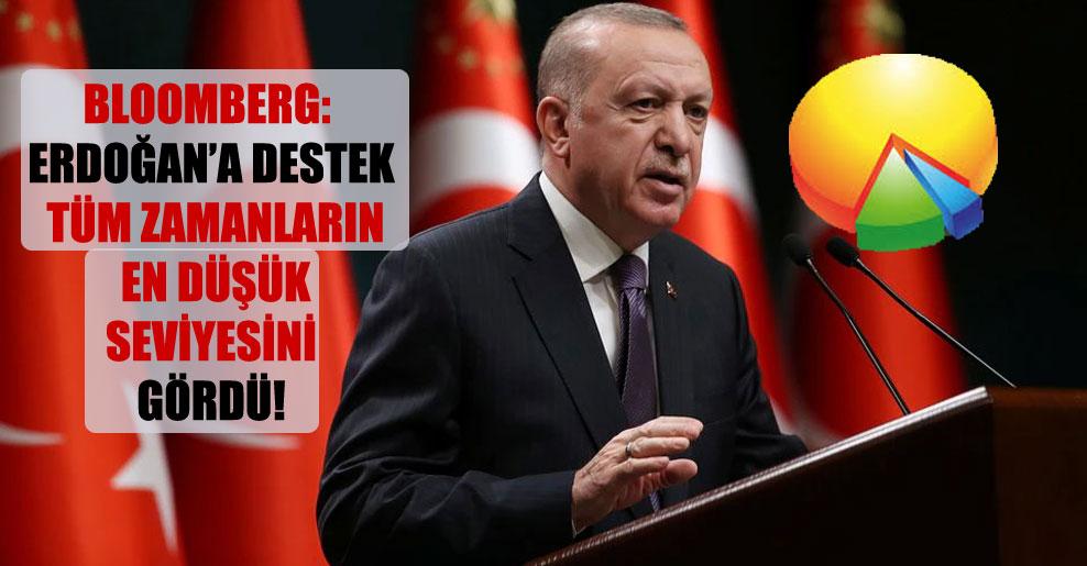 Bloomberg: Erdoğan'a destek tüm zamanların en düşük seviyesini gördü!