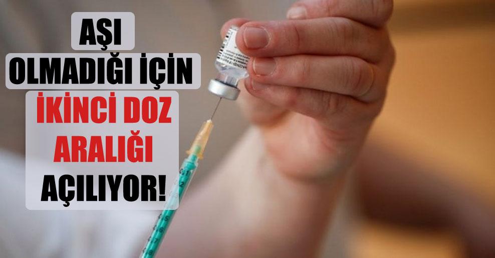 Aşı olmadığı için ikinci doz aralığı açılıyor!