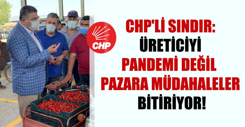 CHP'li Sındır: Üreticiyi pandemi değil pazara müdahaleler bitiriyor!