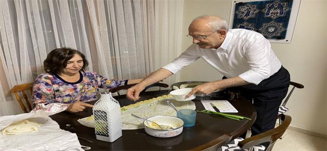 Kılıçdaroğlu bayram mesajını mutfağından verdi!