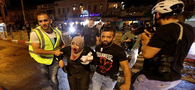 Mescidi Aksa ve çevresinde İsrail polisinin müdahalesi sonucu yaralananların sayısı 90'a yükseldi
