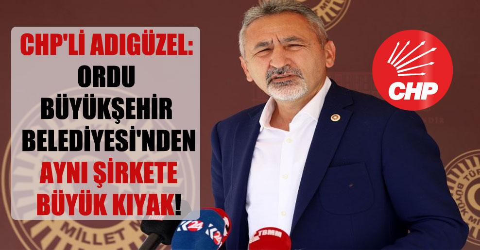 CHP'li Adıgüzel: Ordu Büyükşehir Belediyesi'nden aynı şirkete büyük kıyak!