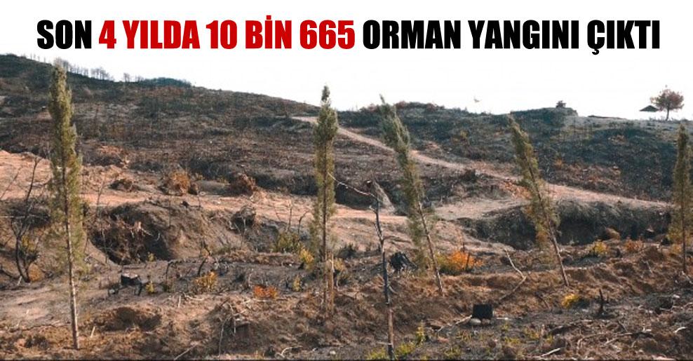 Son 4 yılda 10 bin 665 orman yangını çıktı
