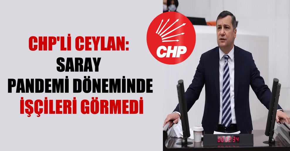 CHP'li Ceylan: Saray pandemi döneminde işçileri görmedi