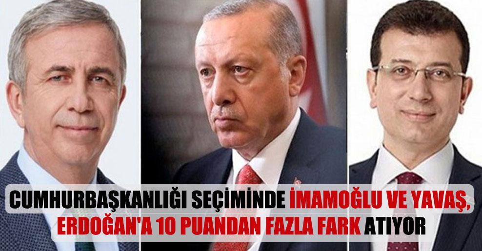 Cumhurbaşkanlığı seçiminde İmamoğlu ve Yavaş, Erdoğan'a 10 puandan fazla fark atıyor