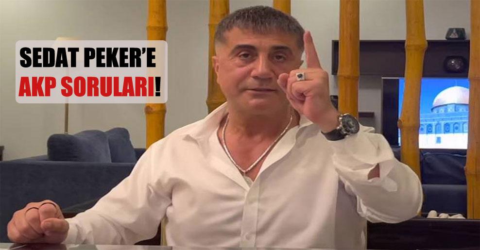 Sedat Peker'e AKP soruları!