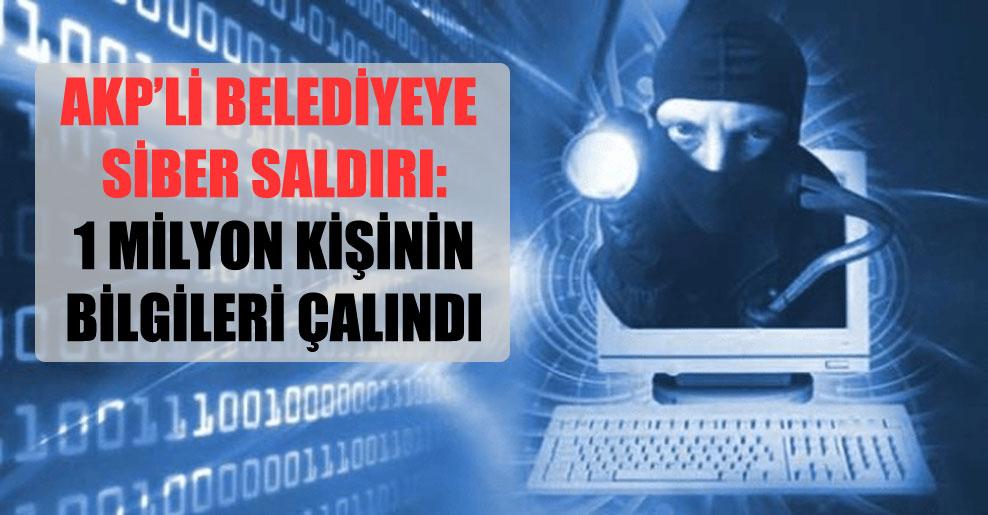 AKP'li belediyeye siber saldırı: 1 milyon kişinin bilgileri çalındı