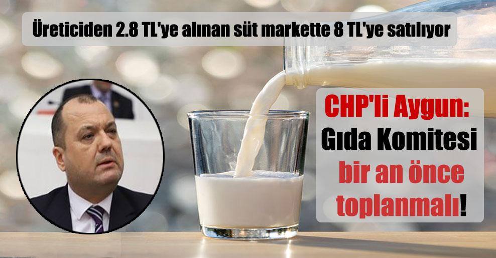 CHP'li Aygun: Gıda Komitesi bir an önce toplanmalı!
