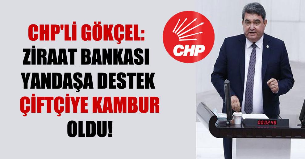CHP'li Gökçel: Ziraat Bankası yandaşa destek çiftçiye kambur oldu!