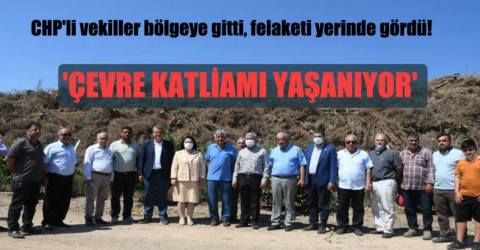 CHP'li vekiller bölgeye gitti,, felaketi yerinde gördü! 'Çevre katliamı yaşanıyor'