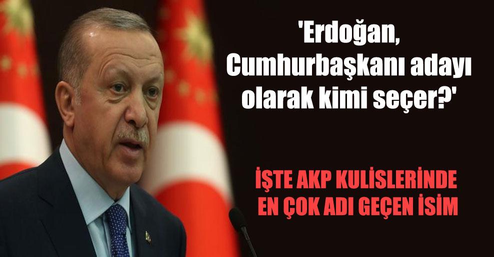 'Erdoğan, Cumhurbaşkanı adayı olarak kimi seçer?'
