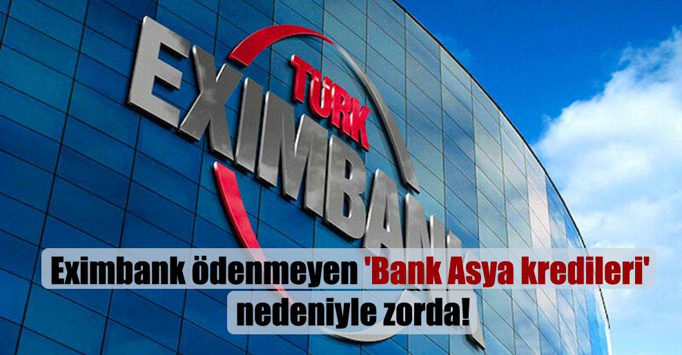 Eximbank ödenmeyen 'Bank Asya kredileri' nedeniyle zorda!