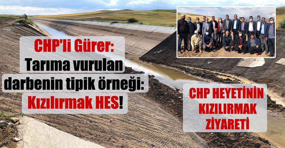 CHP'li Gürer: Tarıma vurulan darbenin tipik örneği: Kızılırmak HES!