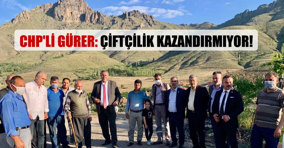 CHP'li Gürer: Çiftçilik kazandırmıyor!