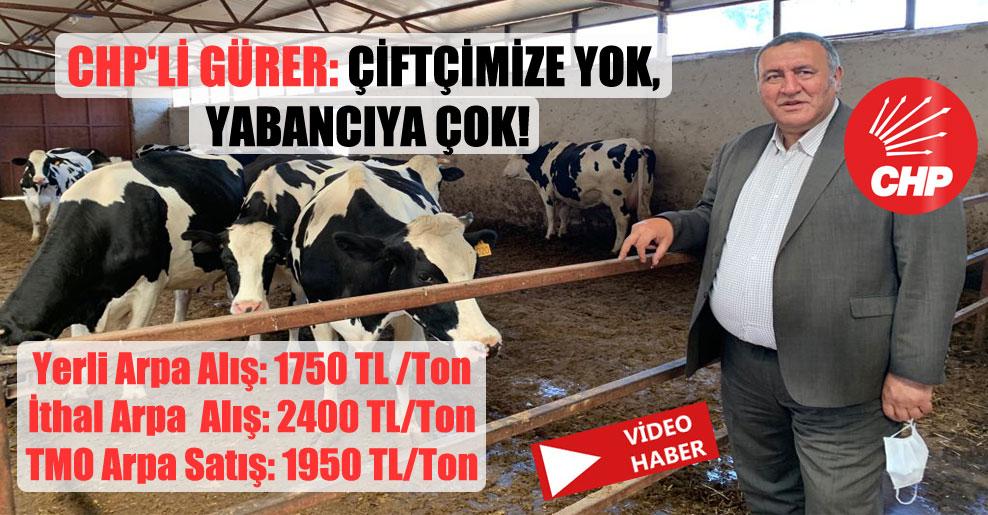 CHP'li Gürer: Çiftçimize yok, yabancıya çok!