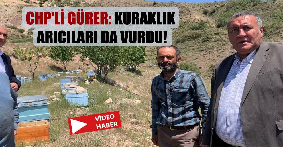 CHP'li Gürer: Kuraklık arıcıları da vurdu!
