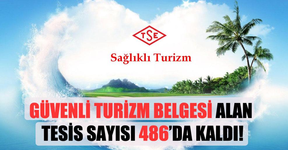Güvenli turizm belgesi alan tesis sayısı 486'da kaldı!