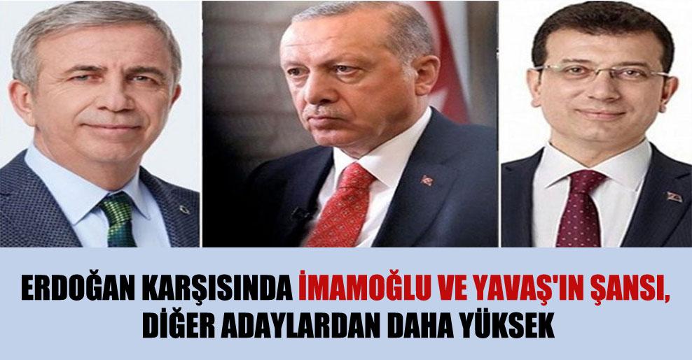 Erdoğan karşısında İmamoğlu ve Yavaş'ın şansı, diğer adaylardan daha yüksek
