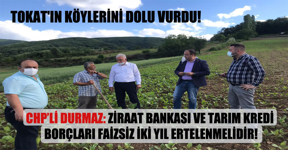 Tokat'ın köylerini dolu vurdu!