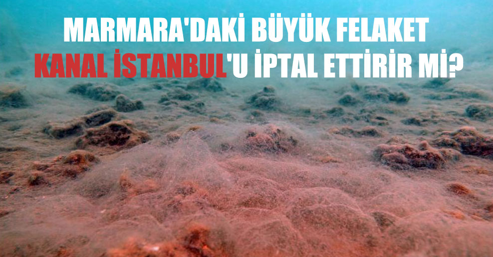 Marmara'daki büyük felaket Kanal İstanbul'u iptal ettirir mi?