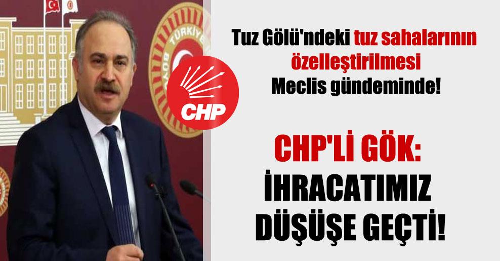Tuz Gölü'ndeki tuz sahalarının özelleştirilmesi Meclis gündeminde! CHP'li Gök: İhracatımız düşüşe geçti!