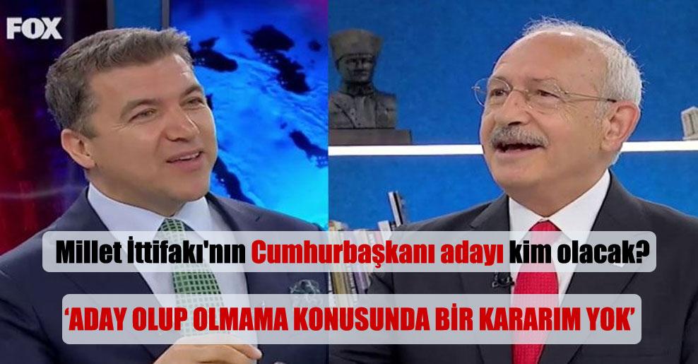 Millet İttifakı'nın Cumhurbaşkanı adayı kim olacak?