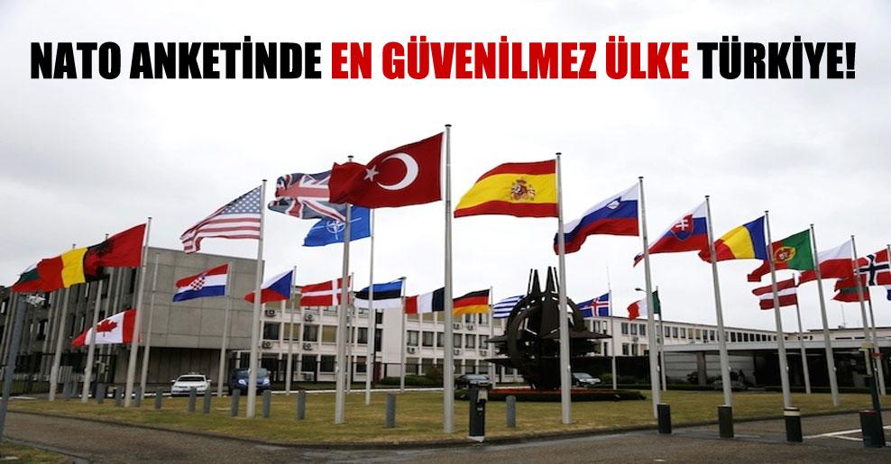 NATO anketinde en güvenilmez ülke Türkiye!