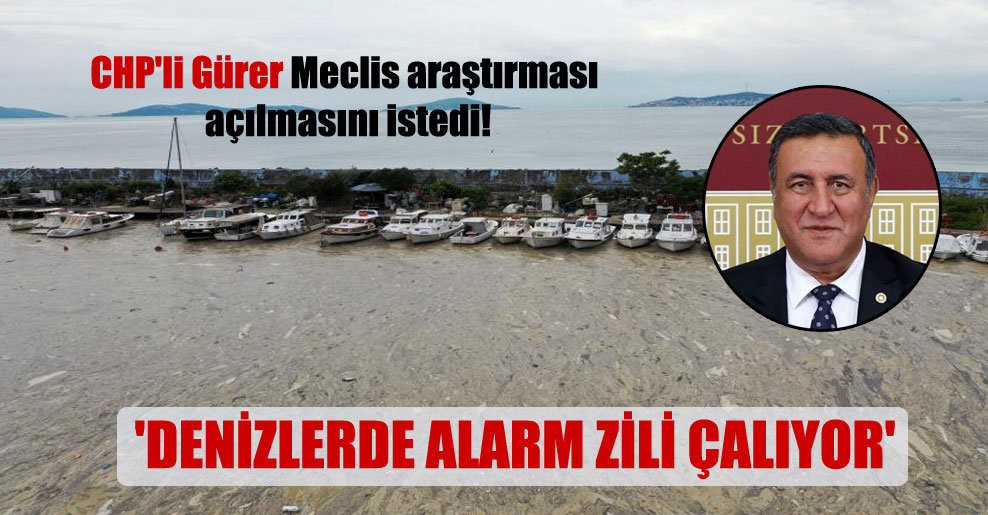 CHP'li Gürer Meclis araştırması açılmasını istedi! 'Denizlerde alarm zili çalıyor'