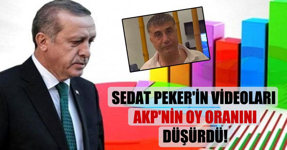 Sedat Peker'in videoları AKP'nin oy oranını düşürdü!