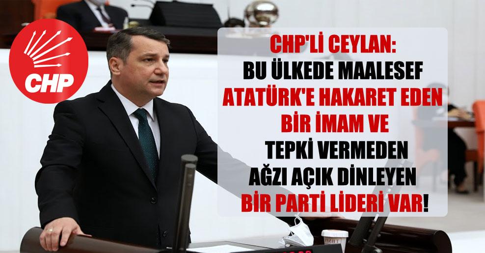 CHP'li Ceylan: Bu ülkede maalesef Atatürk'e hakaret eden bir imam ve  tepki vermeden ağzı açık dinleyen bir parti lideri var!