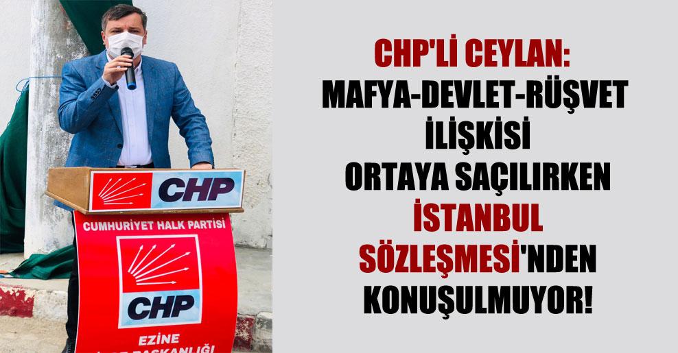 CHP'li Ceylan: Mafya-devlet-rüşvet ilişkisi ortaya saçılırken İstanbul Sözleşmesi'nden konuşulmuyor!