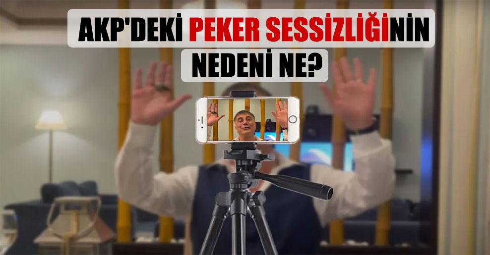 AKP'deki Peker sessizliğinin nedeni ne?