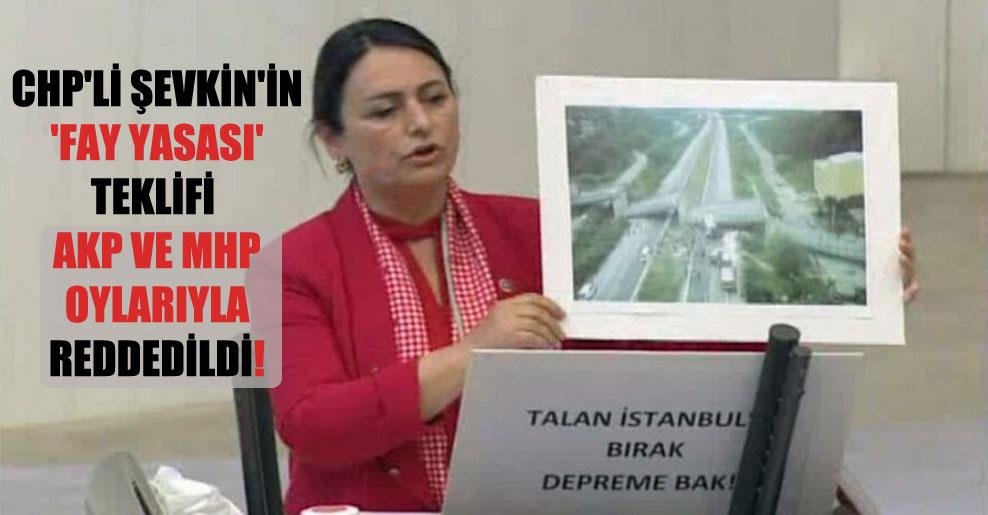 CHP'li Şevkin'in 'Fay Yasası' teklifi AKP ve MHP oylarıyla reddedildi!