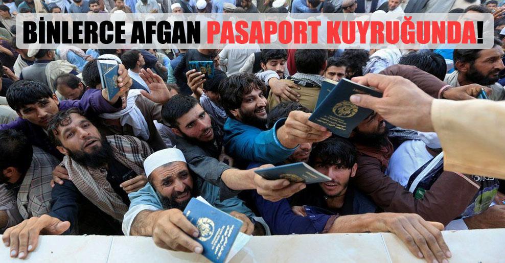Binlerce Afgan pasaport kuyruğunda!