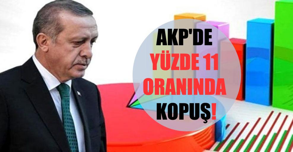 AKP'de yüzde 11 oranında kopuş!