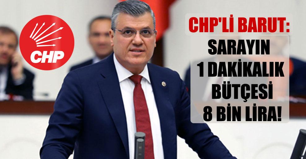 CHP'li Barut: Sarayın 1 dakikalık bütçesi 8 bin Lira!