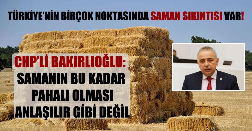 Türkiye'nin birçok noktasında saman sıkıntısı var!