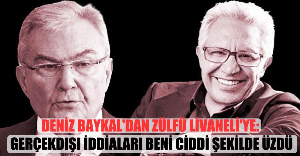 Deniz Baykal'dan Zülfü Livaneli'ye: Gerçekdışı iddiaları beni ciddi şekilde üzdü