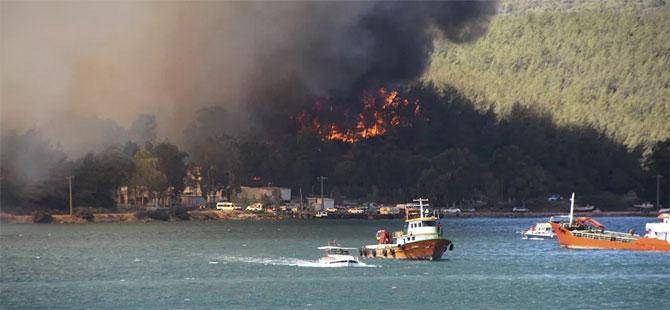 Antalya, Bodrum ve Marmaris'te yangınlar söndürüldü