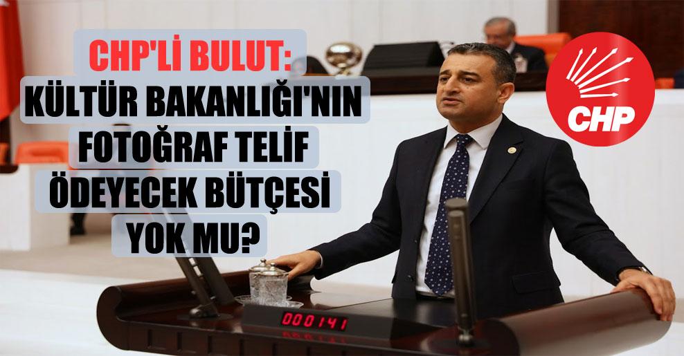 CHP'li Bulut: Kültür Bakanlığı'nın fotoğraf telif ödeyecek bütçesi yok mu?
