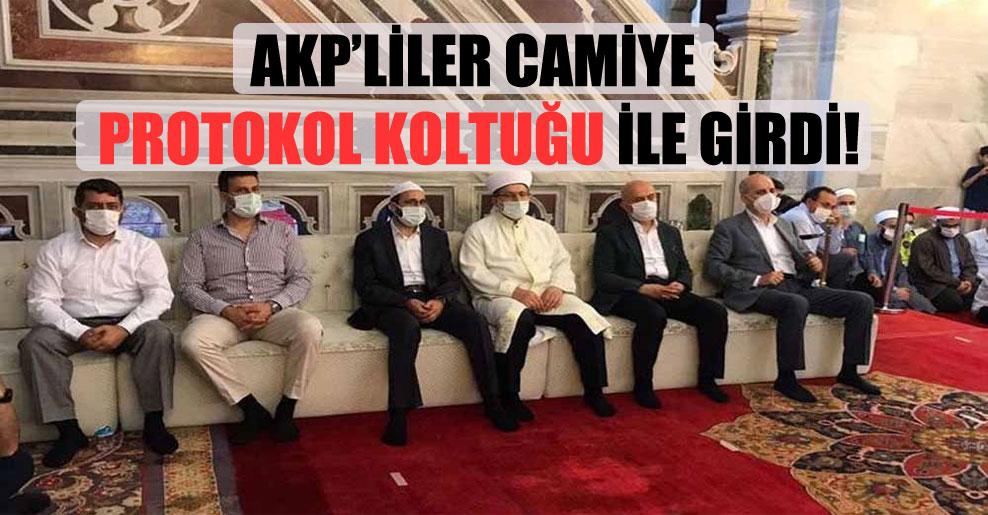 AKP'liler Camiye protokol koltuğu ile girdi!