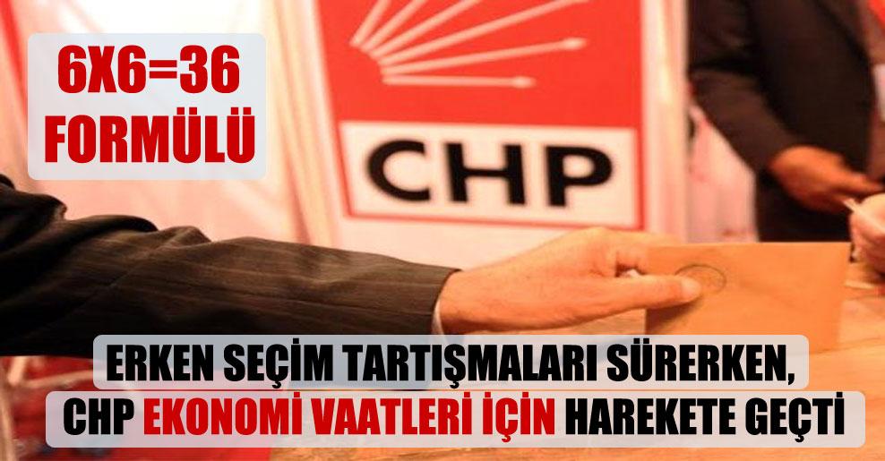 Erken seçim tartışmaları sürerken, CHP ekonomi vaatleri için harekete geçti