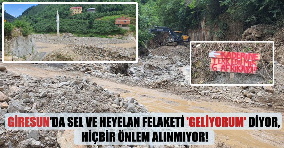 Giresun'da sel ve heyelan felaketi 'Geliyorum' diyor, hiçbir önlem alınmıyor!