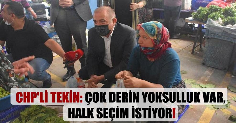 CHP'li Tekin: Çok derin yoksulluk var, halk seçim istiyor!