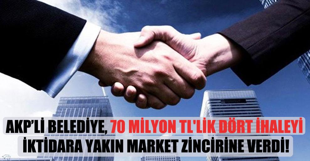 AKP'li belediye, 70 milyon TL'lik dört ihaleyi iktidara yakın market zincirine verdi!